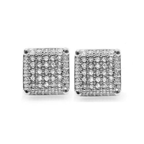 Platinum Plated White CZ Cubic Zirconia Square Cube Dice Shaped Mens Ladies Unisex Hip Hop Iced Stud Earrings 9 mm DazzlingRock Collection. $19.99. Get most bang for your buck. Cubic Zirconia Color / Clarity : White / Clean. Sparkling Stud Earrings. It is a trendy accessory and makes a perfect gift for any occasion.. Save 71% Off!