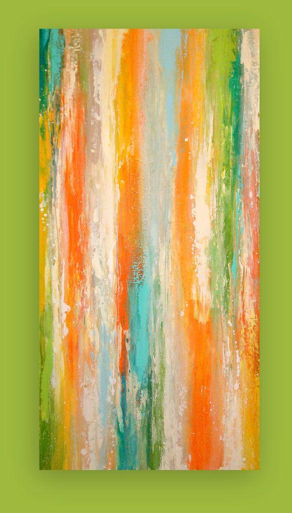 RESERVED. Original Painting Abstract Modern by OraBirenbaumArt, $246.50