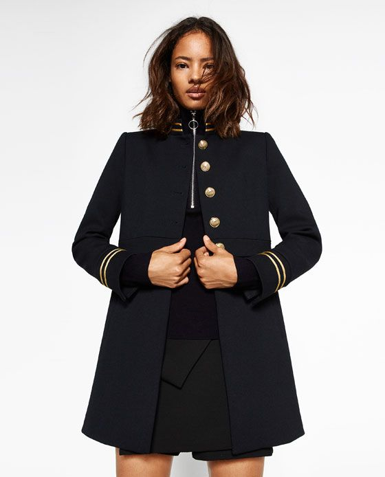 ZARA - WOMAN - MANDARIN COLLAR FROCK COAT  http://www.zara.com/us/en/woman/new-in/mandarin-collar-frock-coat-c840002p4021003.html