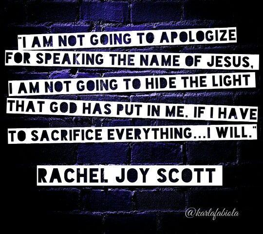 Rachel Joy Scott  @karlafabiola