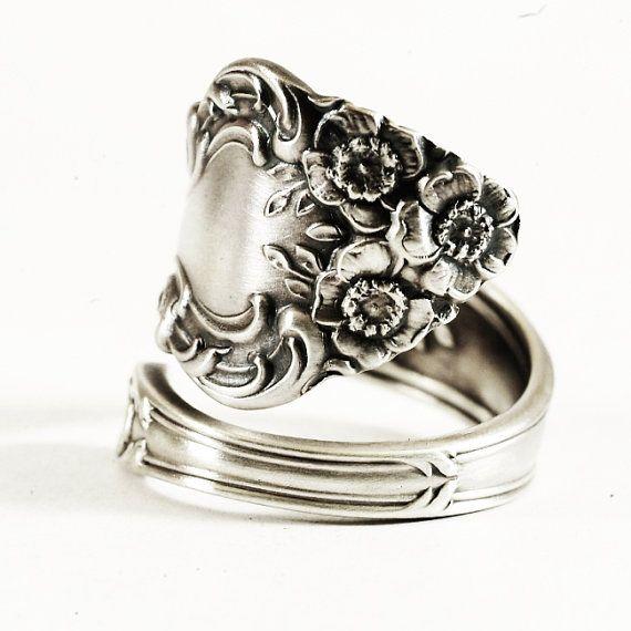Cute Antique Sterling Silver Spoon Ring Watson us by Spoonier