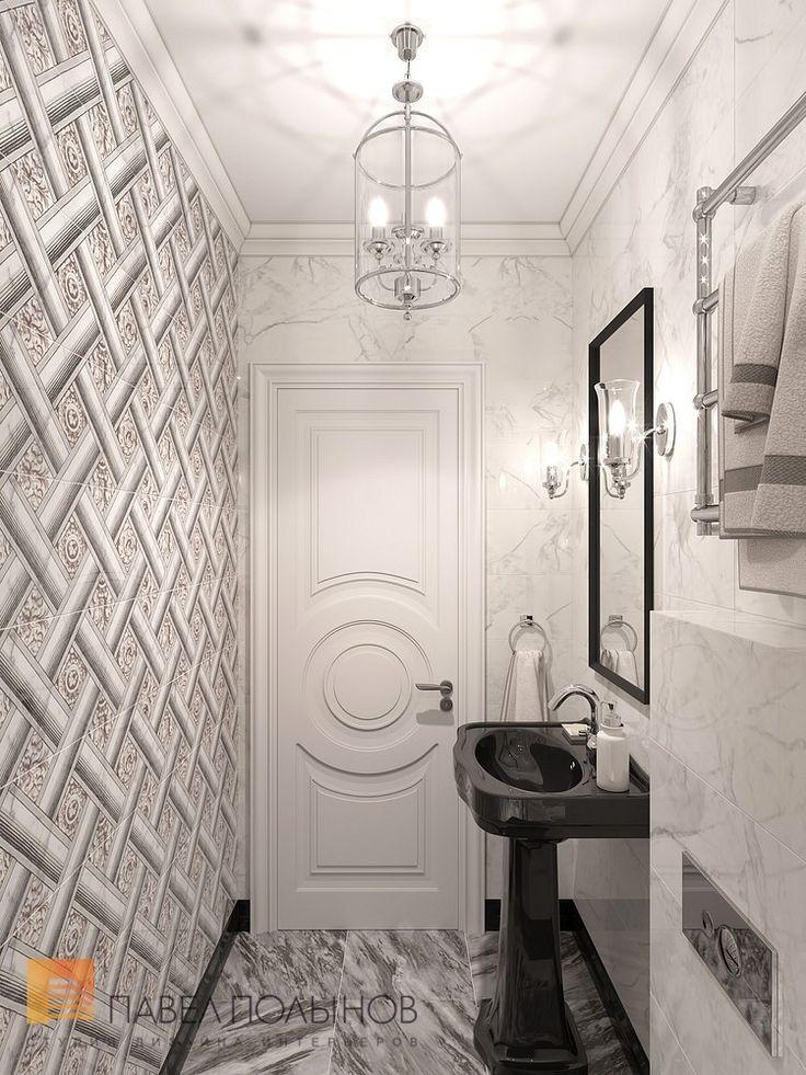 Фото интерьер санузла из проекта «Дизайн трехкомнатной квартиры 100 кв.м. в стиле неоклассики, ЖК «Смольный парк»»