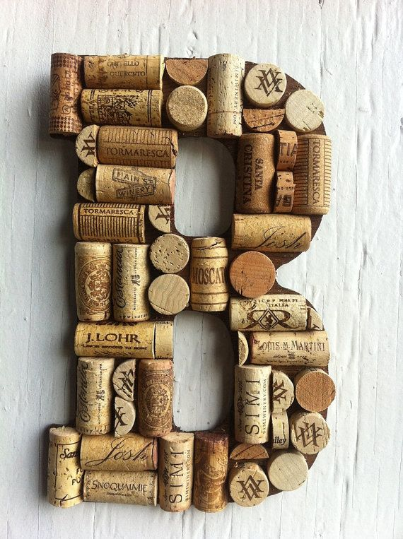 Wine Cork Initials
