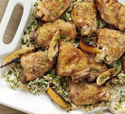 Lemon & herb chicken with orzo | Tried and tested recipes | Pinterest