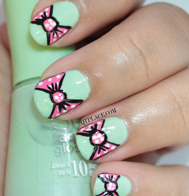 Bow nail art