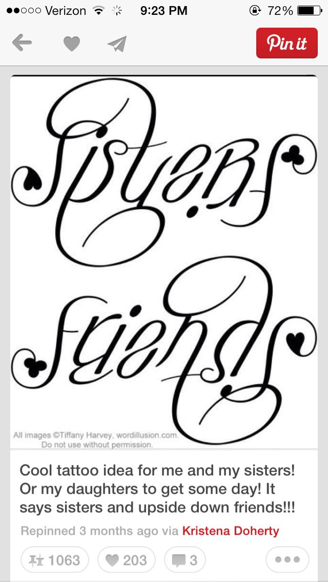Sister tattoo @Kristen - Storefront Life - Storefront Life Hodges @MacKenzie Molzhon Dillow