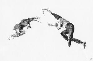 Flight of The Crayfish digital print - $44