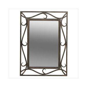 Dreamline Rectangular Mirror In Wrought Iron
