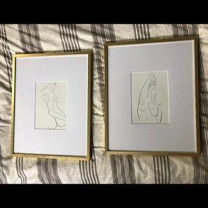Mode abstrakte eine Linie Zeichnung drucken, weibliche Linie Skizze, Frau Linie druckbare Kunstwerke, Pastell Körper Illustration, zeitgenössische Kunstdruck