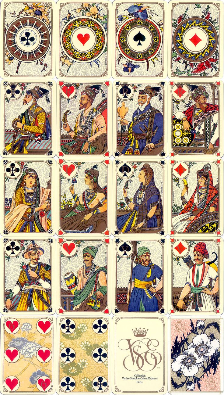 Venice SimplonOrientExpress Playing Cards produced by B
