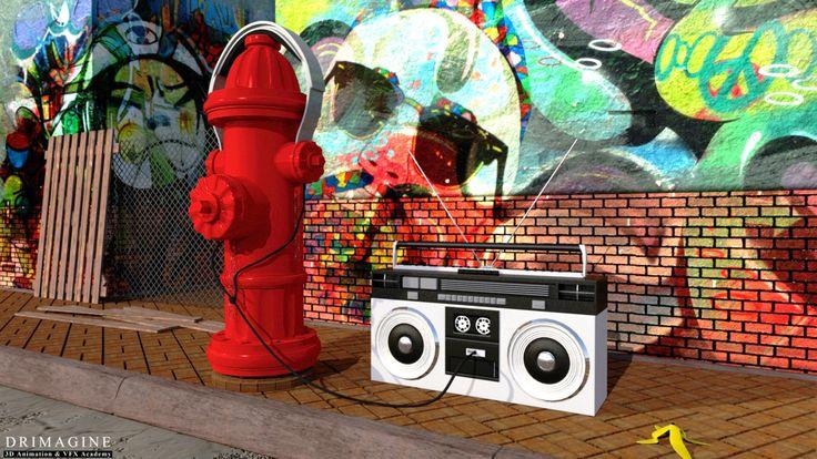 Jednym z tematów, z którym musieli poradzić sobie nasi kursanci był… #hydrant ;) Jak Wam się podoba? :)#AkademiaAnimacji3D #Drimagine #creative #maya #autodesk #boombox #street #graffity