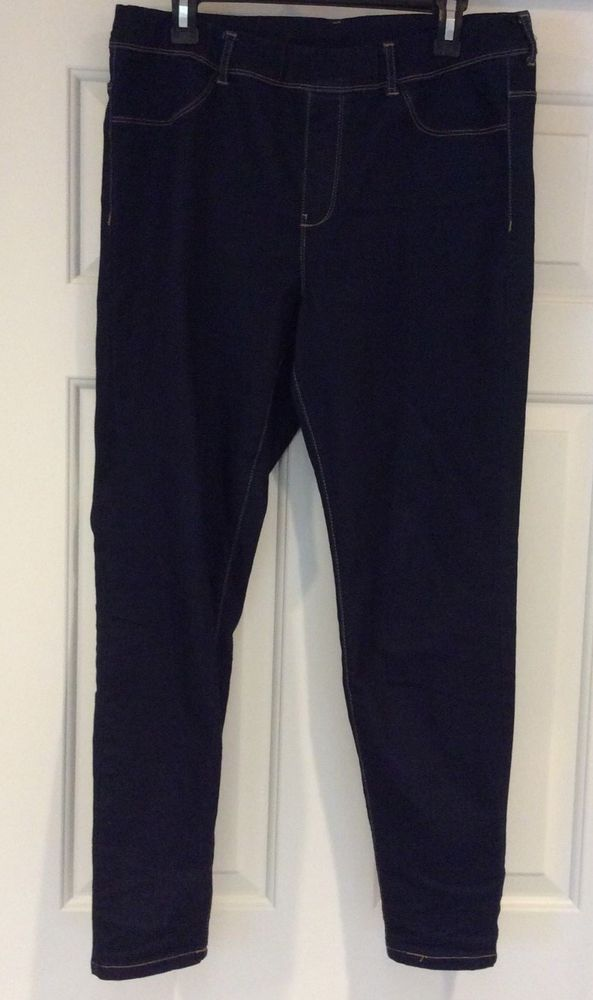 06322c33aed Route 66 Stretch Jean Jeggings Womens SZ 12 Blue Indigo Wash Pull On Skinny  Leg  Route66