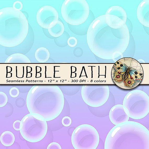 Bubbles Digital Paper Bubble Bath Paper 8 por TheArtBoxDesigns