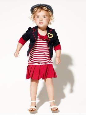 Baby Clothing: Toddler Girl Clothing: We ♥ Outfits | Gap - I'd pu jeans of jeggings with it for Fall but supper cute.