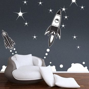 Retro Rocket Wall Decals Retro Rockets Wall Decals Chillins Wall Decals Plastic Surgery For Your Walls