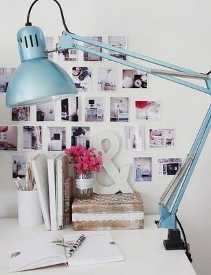 Love the photo wall & office space.... I need this