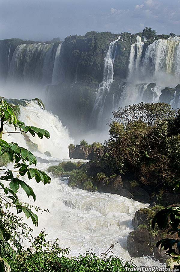 Foz do Iguaçu Waterfall in South Brazil