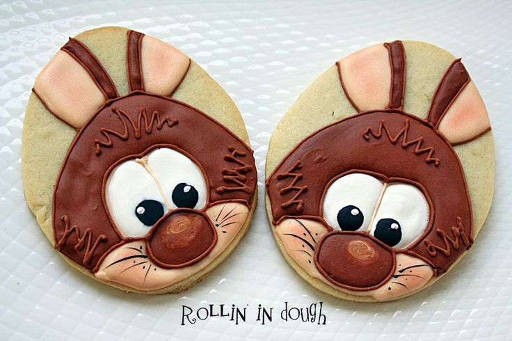 Bunny Cookies using an egg shape