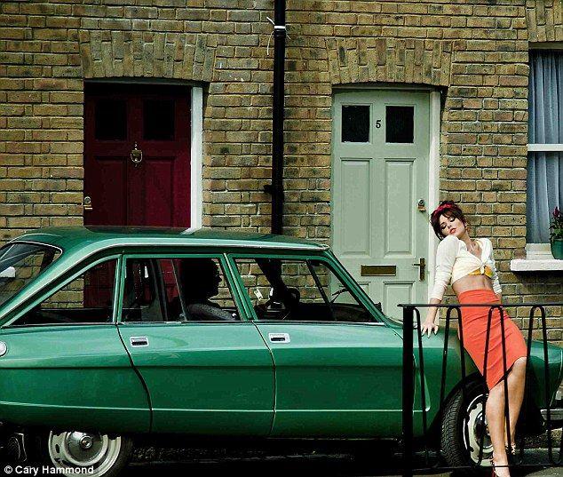 Retro Cheryl Cole and a Citroën Ami 8