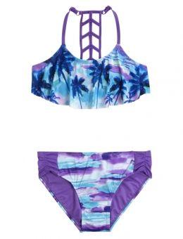 Scenic Flounce Bikini Swimsuit