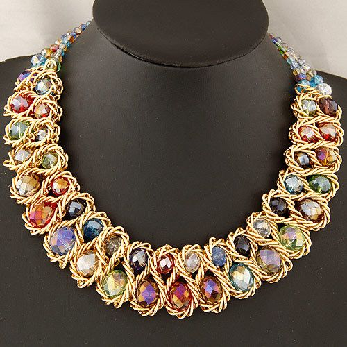 Cheap fashion necklace and earring sets, Buy Quality fashionable boots for girls directly from China fashion clothes for cheap Suppliers: Fashion Necklaces for Women 2014 choker collar gold chain big chunky double crystal bead necklaces & pendants statement