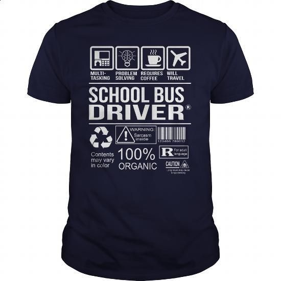 Awesome Shirt For School Bus Driver - #pullover #designer t shirts. GET YOURS => https://www.sunfrog.com/LifeStyle/Awesome-Shirt-For-School-Bus-Driver-Navy-Blue-Guys.html?60505