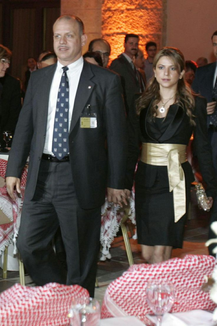 Prince Faisal of Jordan and his ex-wife Sara after a few days of their marriage, in May 2010.  The couple divorced after three years of marriage on 14 Sep 2013, they had had no children.  Prince Feisal married his third wife a Jordanian radio presenter Zaina Labadeh on 4 January 2014.