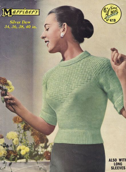 512 Best Vintage Knitting Patterns Womens Jumpers Images On
