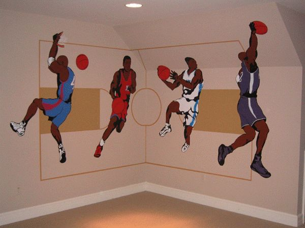 Sports Wall Murals 26 best blake's bedroom images on pinterest | basketball bedroom
