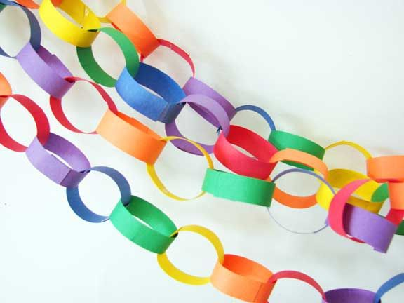 Paper chain: Build each day (decoration for return) or build and take a link each day gone.