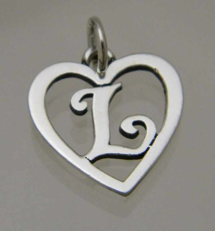 James Avery Sterling Silver 925 Heart With Initial Letter
