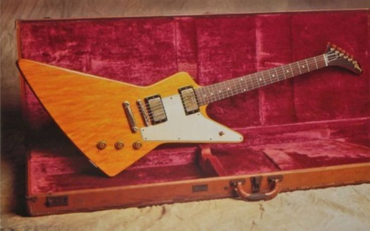 Selling for $1.1M, this korina-bodied, PAF-equipped '58 Gibson Explorer is now…