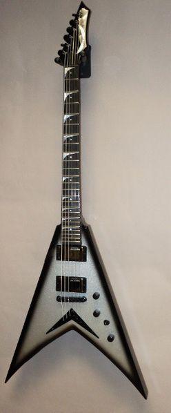 Dean USA Dave Mustaine VMNT Guitar Silver Burst (Full Body)