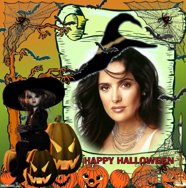 Halloween animated picture frame! You can add your own Halloween photo's in this frame for free!  Just click on the photo and join Imikimi.com, a free photo editor with tons of amazing features!