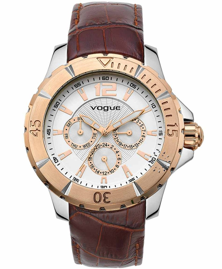 VOGUE City Two Tone Brown Leather Strap Η τιμή μας: 185€ http://www.oroloi.gr/product_info.php?products_id=31492