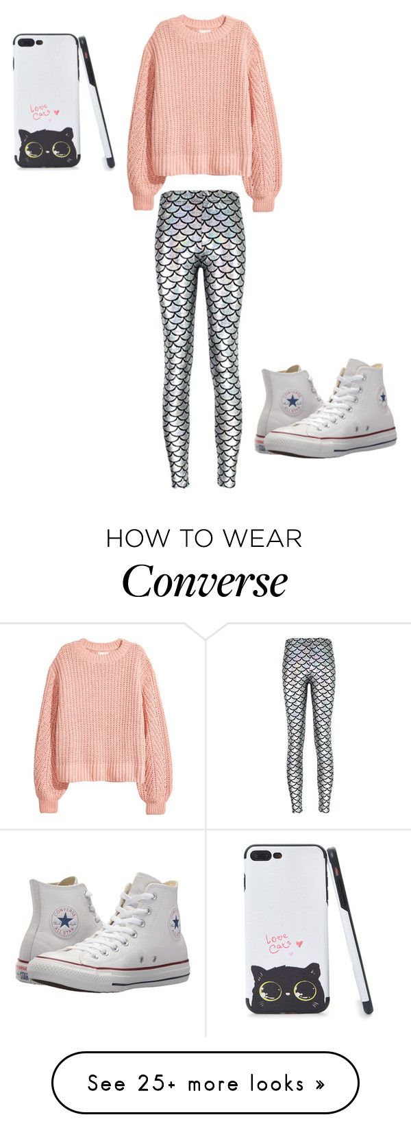 """""""Sweaters!"""" by whitefrost2016 on Polyvore featuring H&M, Alaroo, Converse and pastelsweaters"""