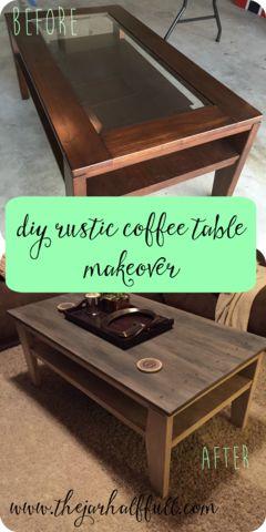 DIY Rustic Coffee Table Makeover – The Jar Half Full