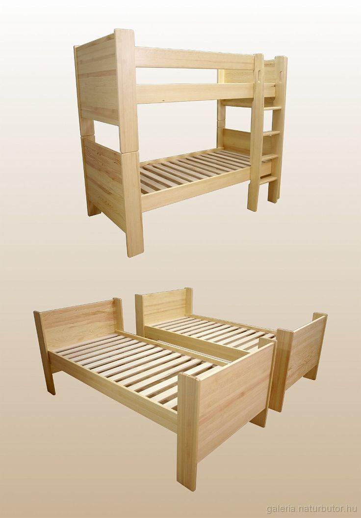 Emeletes ágy - két ágyra bontható (gysz141621)
