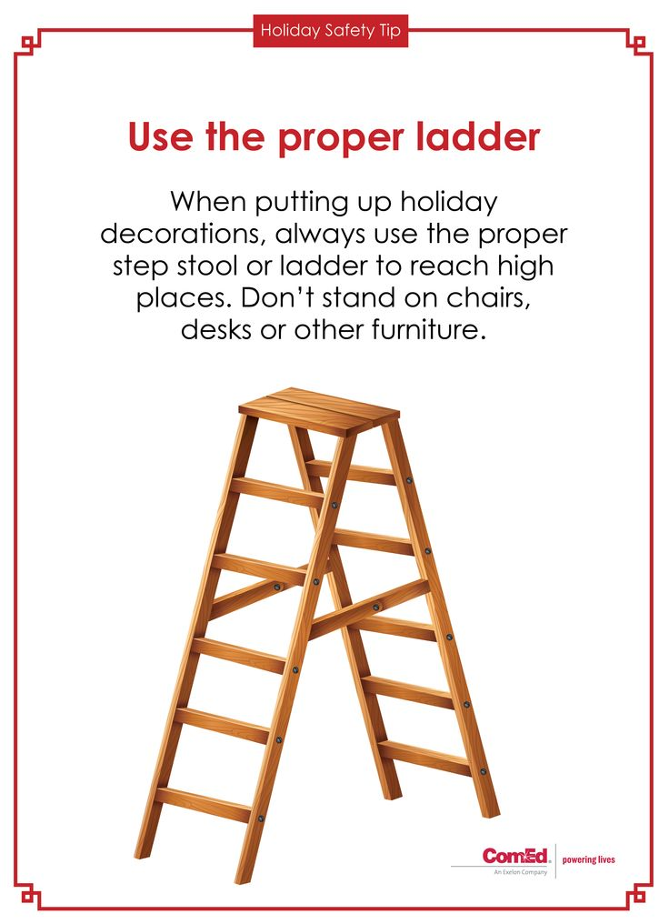 17 best images about holiday safety on pinterest trees for Ladder safety tips