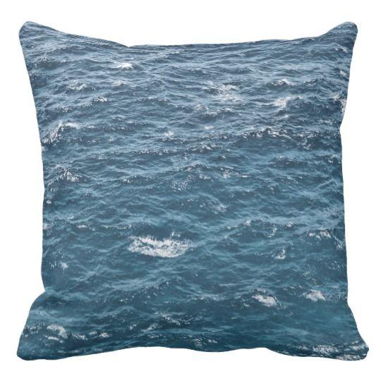 Caribbean Sea Waves Pillow #HomeDecor #HGTV #Decor #Ocean #Pillow #Zazzle