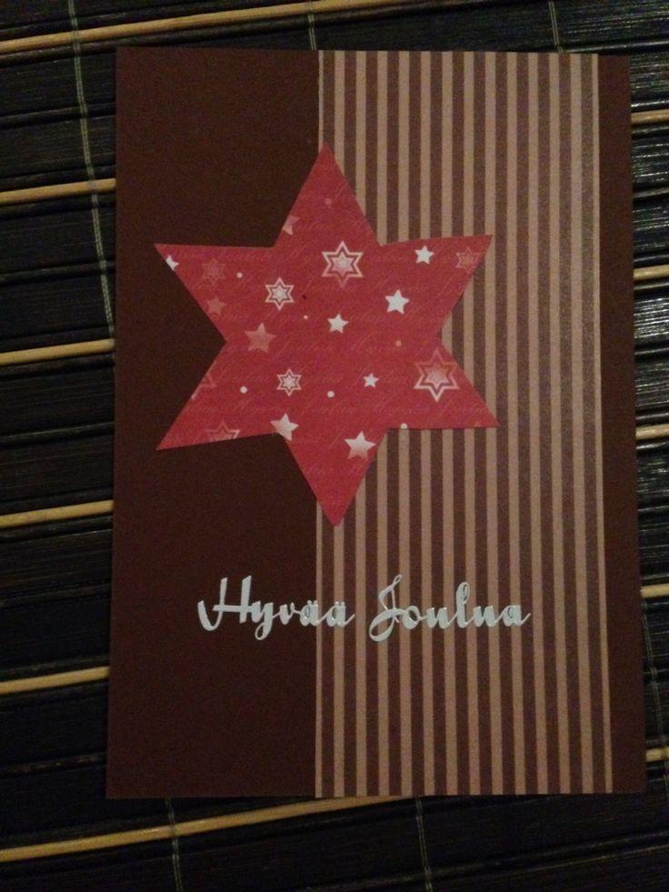 Joulukortti tähti