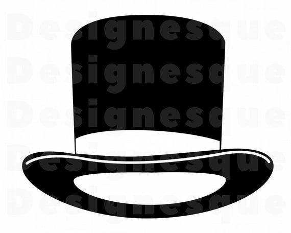 Top Hat 5 Svg Top Hat Svg Hat Svg Retro Hat Svg Hat Etsy Retro Hats Top Hat Svg