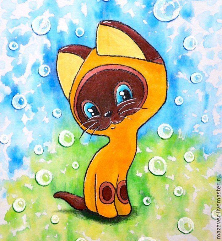 сериале рисунки котенок гав по этапом соединение