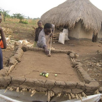 African pool table! Great!