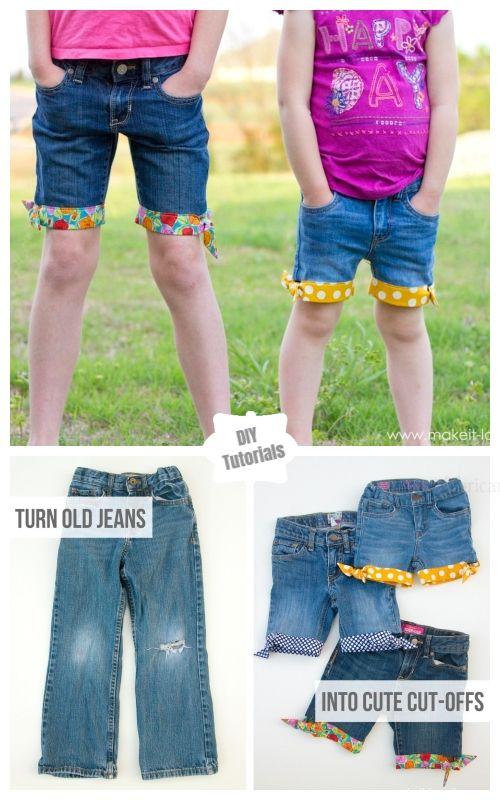 714d953dd1891 Refashion Hack- Turn Worn Jeans into DIY Cut Off Jean Shorts Tutorials -   Summer Style Cut Off Jean Shorts DIY Tutorial