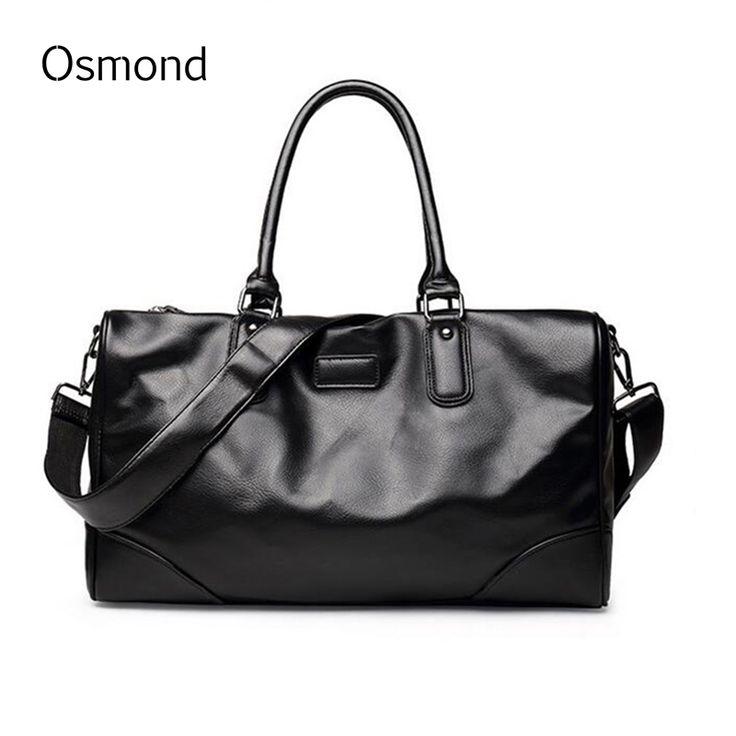 Osmond New Fashion Men Handbag Travel Bag Large Capacity PU Leather tote Bag Crossbody Duffle Shoulder Bags For Men