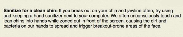 Preventing Chin Breakouts