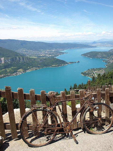 Lac Annecy, France. I have ridden all the way around this Lac!! Beautiful.....