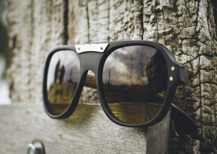 Anteojo de madera y acetato, lentes de sol - Nomade