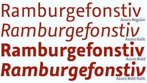 Bis Nikolaus mit 50% Rabatt: Azuro von Georg Seifert. Einfach Azuro-Familie(n) auf fontshop.com laden und beim Bezahlen den Promocode Azuro_50 verwenden … http://www.fontshop.com/fonts/family/azuro/